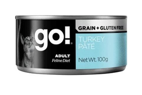 GO Гоу консервы беззерновые с индейкой для кошек, паштет