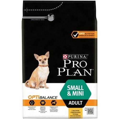 Purina Pro Plan для взрослых собак малых и карликовых пород с курицей и рисом