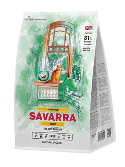 Savarra гипоаллергенный для взрослых стерилизованных кошек, с уткой и рисом