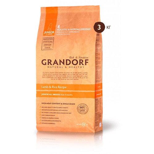 Grandorf Lamb & Rice Junior All BreedsГрандорф юниор ягненок