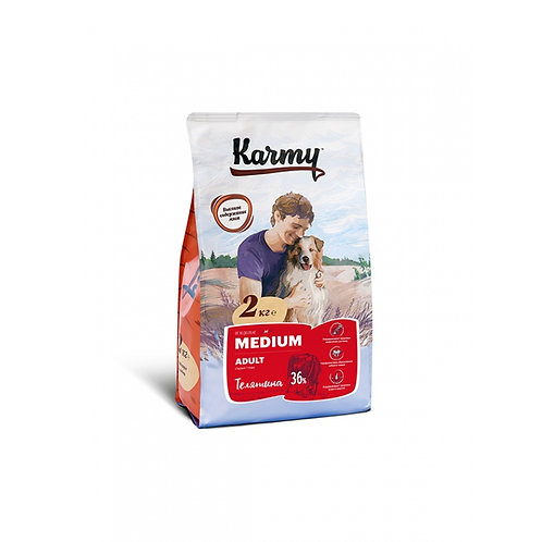 Karmy Medium Adult Карми Сухой корм для собак средних пород с телятиной