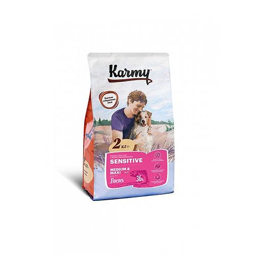 Karmy Sensitive Medium & Maxi для собак средних и кр. пород чувст. пищ. лосось