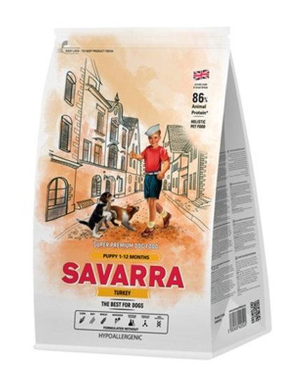 Savarra гипоаллергенный для щенков всех пород, с индейкой и рисом