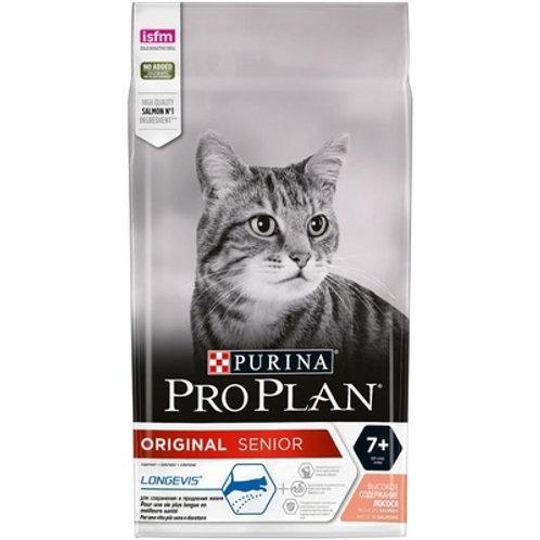 Purina Pro Plan для кошек старше 7 лет, с лососем