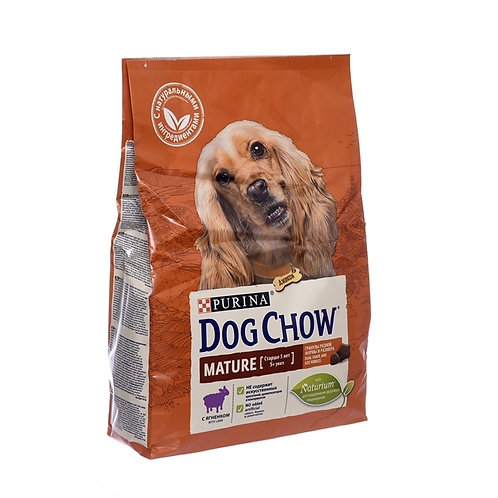 Dog Chow mature lamb для взрослых собак старше 5 лет, с ягненком