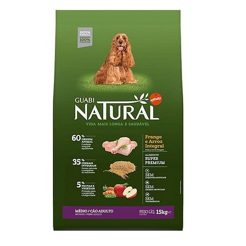 Guabi Natural Adult dog's Medium Breeds для средних пород цыпленок рис