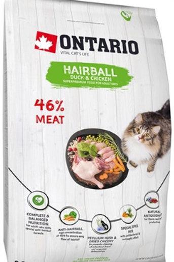 Ontario для вывода шерсти у кошек, с уткой и курицей