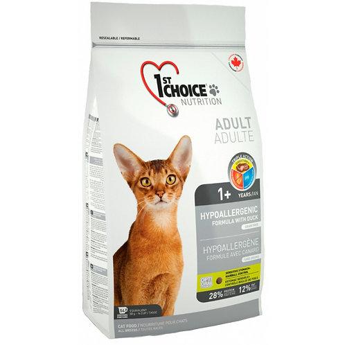 1st Choice Hypoallergenic Чойс Гипоаллергенный корм для кошек с мясом утки и кар