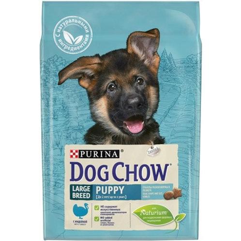 Dog Chow puppy large breed turkey для щенков крупных пород, с индейкой