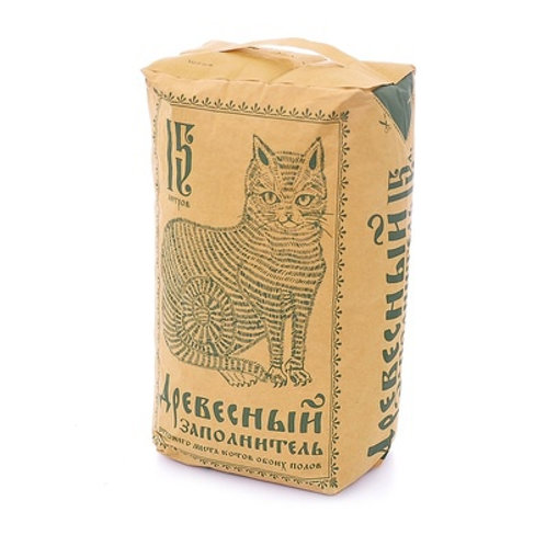 Pi-Pi-Bent Пи-Пи-Бент древесный наполнитель, 15 л (бумажный пакет)