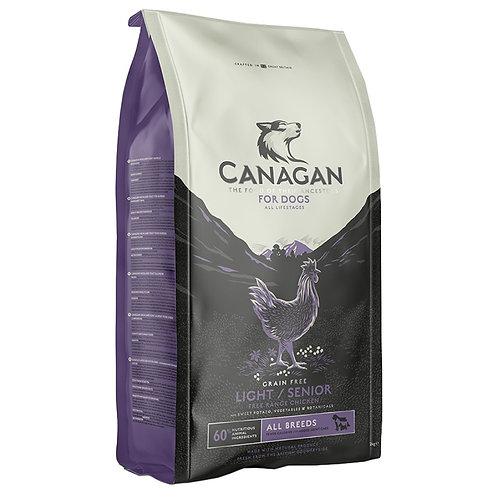 Canagan GF Light & Senior Корм для пожилых собак с избыточным весом с цыпленком