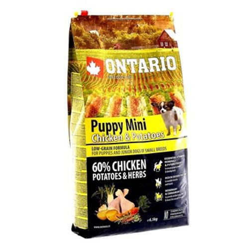Ontario для щенков малых пород, с курицей и картофелем