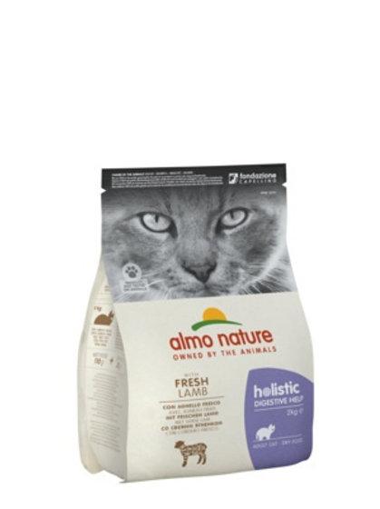 Almo Nature для взрослых кошек для профилактики заболеваний ЖКТ, с ягнёнком