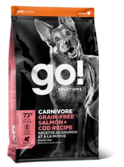 GO carnivore salmon cod Гоу беззерновой для собак всех возрастов, c лососем и тр