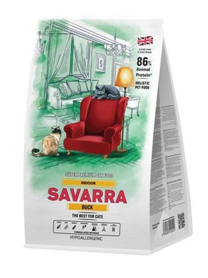 Savarra гипоаллергенный для взрослых кошек, живущих в помещении, с уткой и рисом