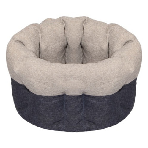 Yami-Yami лежак круглый пухлый, с подушкой, серый