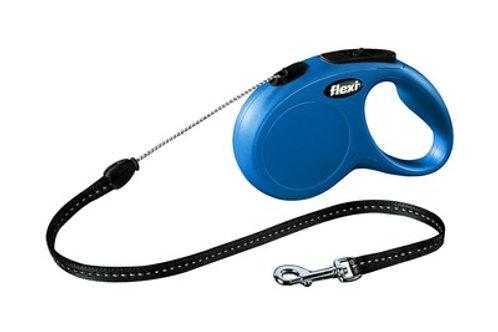 flexi рулетка-трос для собак, голубая