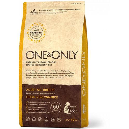 One&Only Duck & Rice Adult All Breeds Ван энд Онли Сухой низкозерновой корм для