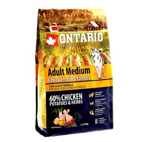 Ontario для средних собак, с курицей и картофелем