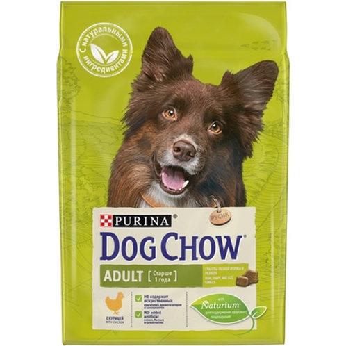 Dog Chow adult chiken для взрослых собак средних пород , с курицей