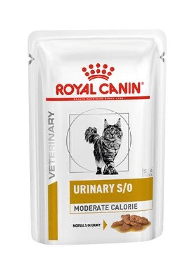 Royal Canin Urinary S/O  Moderate Calorie кусочки в соусе при профилактики МКБ