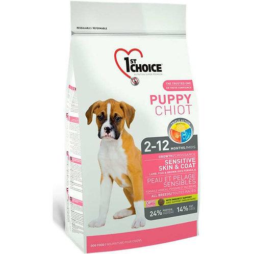 1st Choice Puppy сухой корм для здоровья кожи и шерсти щенков (с ягненком, рыбой