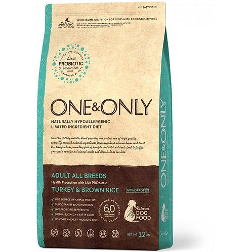 One&Only Turkey & Rice Adult All Breeds Ван энд Онли Сухой низкозерновой корм дл