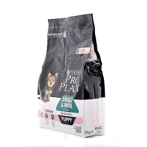 Purina Pro Plan для щенков малых и карликовых пород с чувс. кожей лосось и рис
