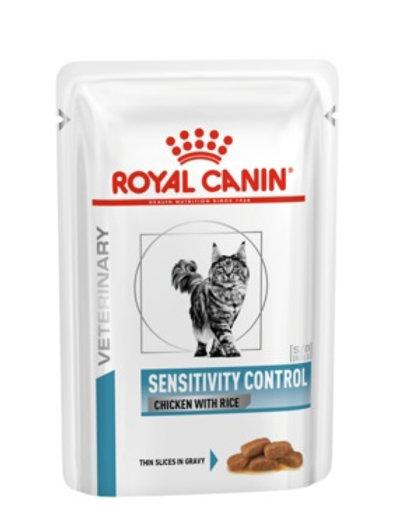 Royal Canin sensitivity control кусочки в соусе с пищевой аллергией, c курицей