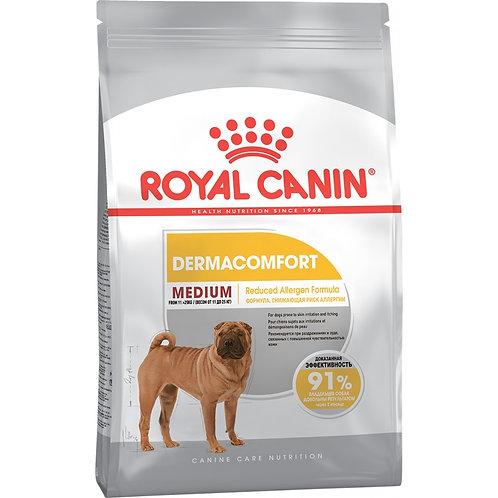 Корм Royal Canin Medium Dermacomfort для собак средних пород с чувствител. кожей