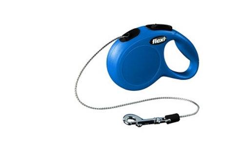 flexi рулетка-трос для собак до 8кг, 3м, голубая