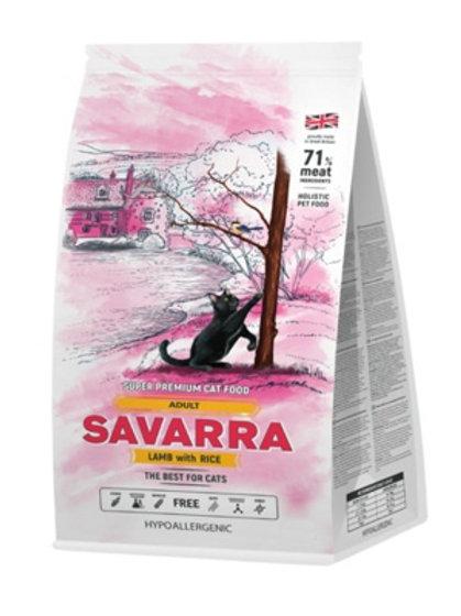 Savarra гипоаллергенный для взрослых кошек, с ягнёнком и рисом