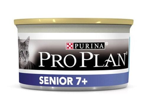 Purina Pro Plan для взрослых кошек старше 7 лет, с тунцом, мусс