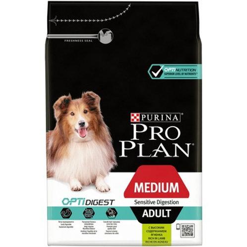 Purina Pro Plan Пурина Про План для взр. собак сред. пород с чувс. пищ. ягненок