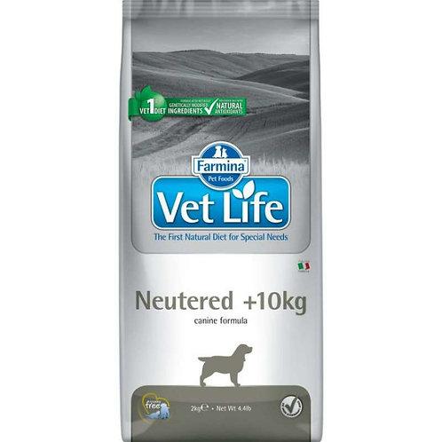 Farmina Vet Life для собак Neutered +10 kg стерилизованных более 10 кг