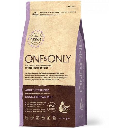 One&Only Duck & Rice Adult Sterilised Ван энд Онли Сухой низкозерновой корм для