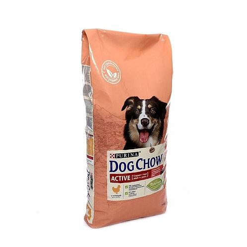 Dog Chow active chiken для взрослых средних пород активных собак, с курицей