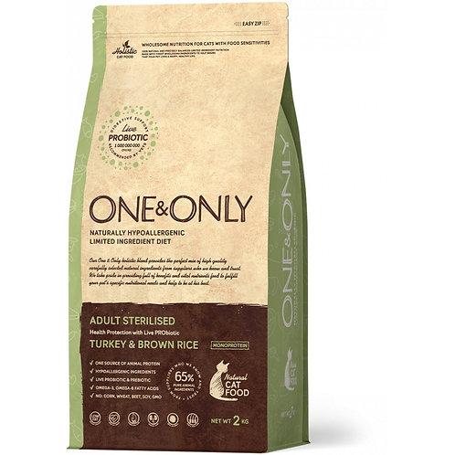 One&Only Turkey & Rice Adult Sterilised Ван энд Онли Сухой низкозерновой корм дл