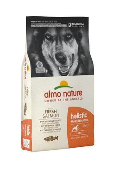 Almo Nature для взрослых собак крупных пород, с лососем