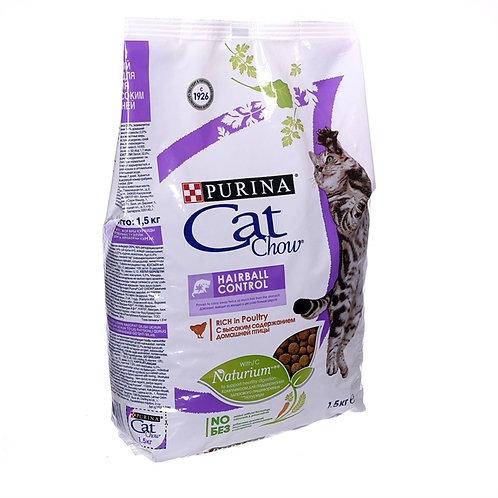 Cat Chow hairball control для кошек выведение шерсти из желудка с домаш. птицей
