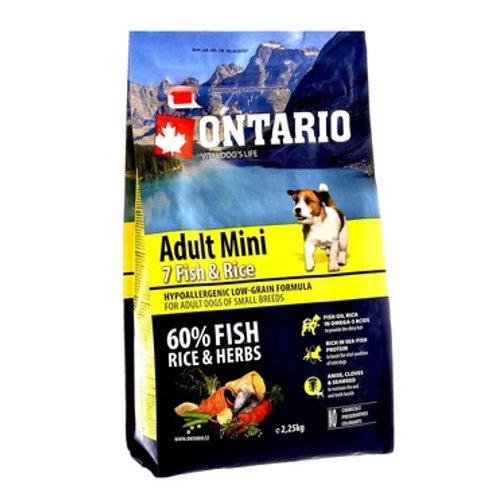 Ontario для собак малых пород, с 7 видами рыбы и рисом