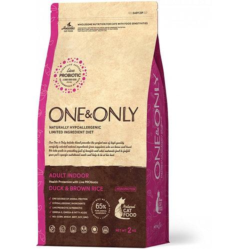 One&Only Duck & Rice Adult Indoor Ван энд Онли Сухой низкозерновой корм для дома