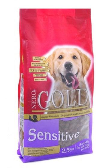 NERO GOLD super premium для собак с чувствительным пищев., с индейкой и рисом