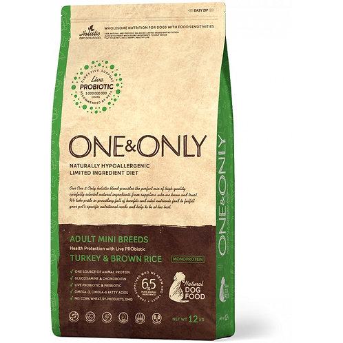 One&Only Turkey & Rice Adult Mini Breeds Ван энд Онли Сухой низкозерновой корм д