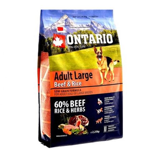 Ontario для собак крупных пород с говядиной и рисом