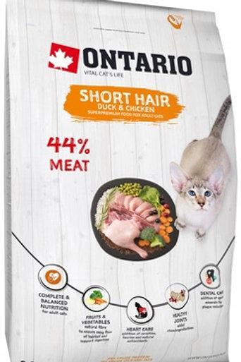 Ontario для короткошерстных кошек, с курицей и уткой