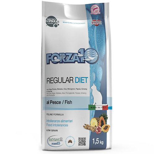 Forza10 для кошек при аллергии и пищевой непереносимости, диетический с рыбой