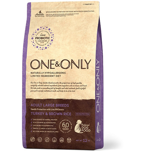 One&Only Turkey & Brown Rice Adult Large Breeds Ван энд Онли Сухой низкозерновой