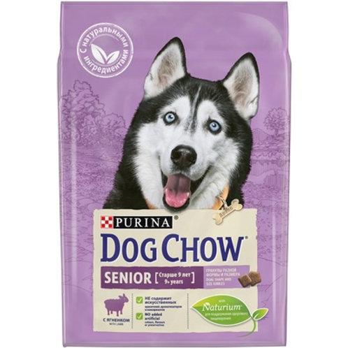 Dog Chow senior lamb для взрослых собак средних пород старше 9 лет, с ягненком