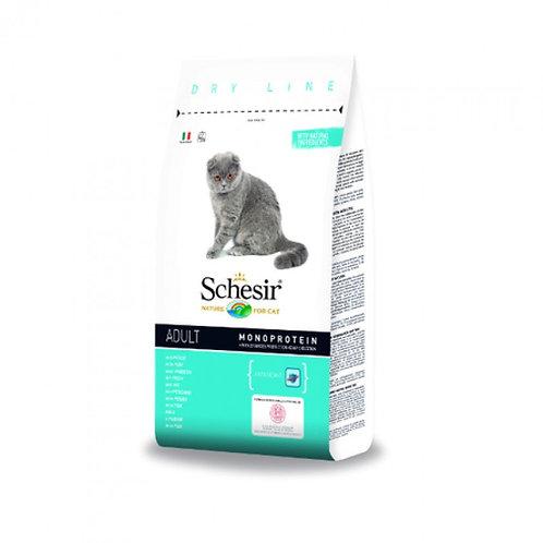 Schesir Adult Сухой корм для взрослых кошек (с рыбой)
